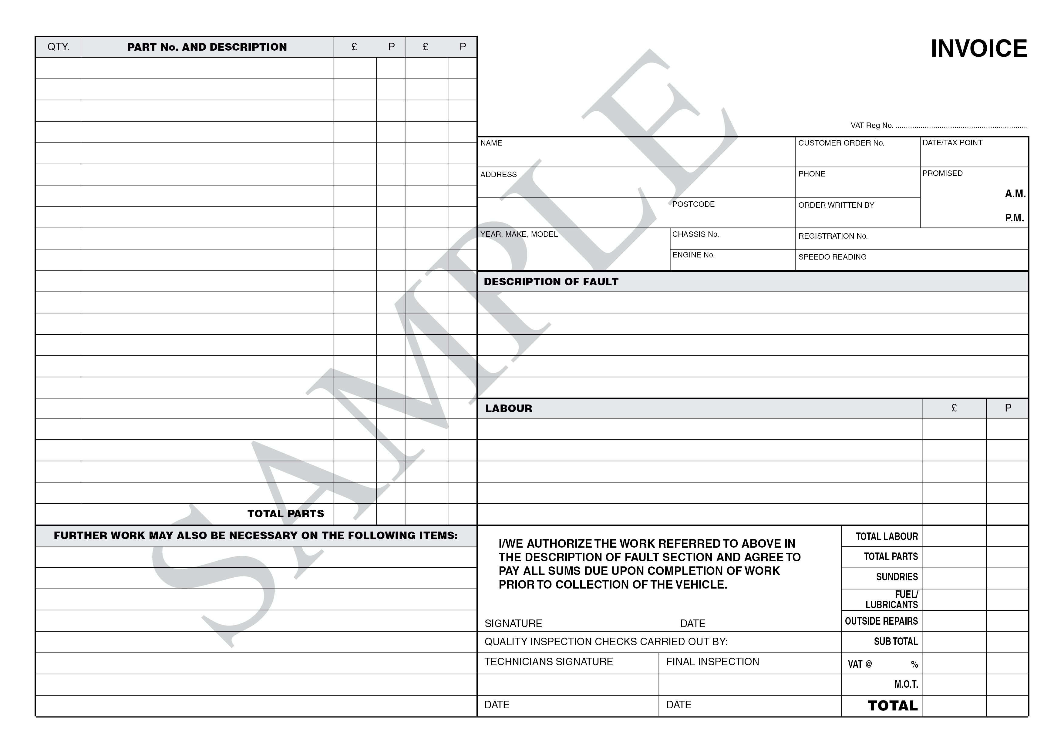 Bristol Based Suppliers Of Printed Stationery For All Business And - Business invoice pads